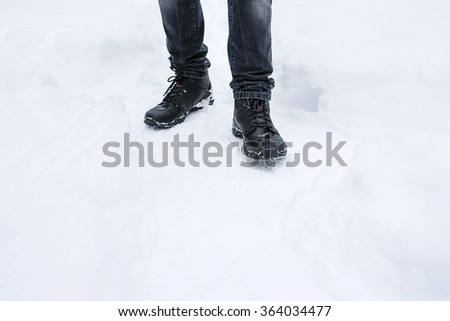 legs, shoes, boots, winter, snow, frost, frost, cold, white,
