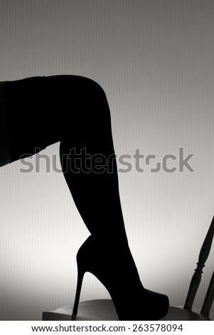 Legs silhouette  - stock photo
