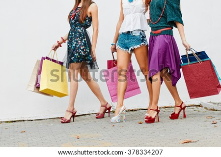 Legs with color bags