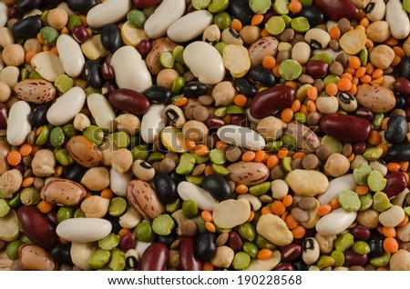 legumes, background, texture  - stock photo