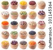 legumes collection isolated on white background - stock photo
