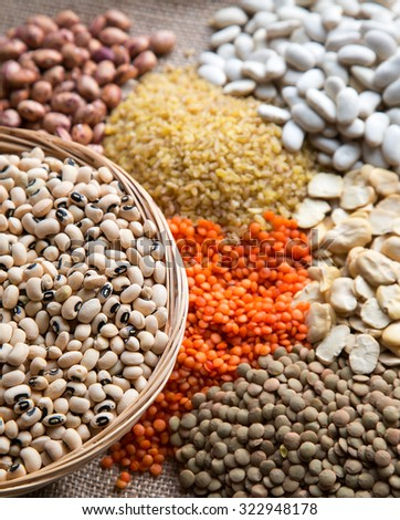 Legumes Delicious and Healthy Mixed. - stock photo