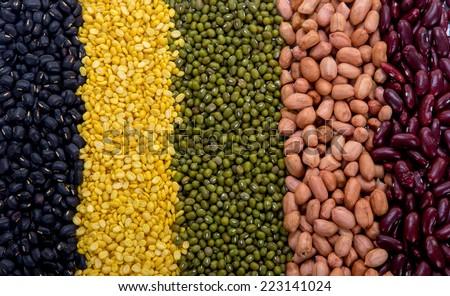 Legumes Texture - stock photo