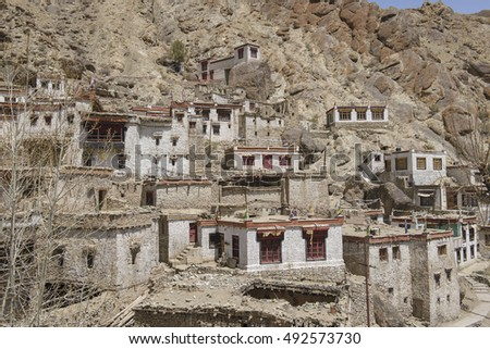 Leh Ladakh Town and Architecture of Tibetan, World Destination, Jammu and Kashmir, India