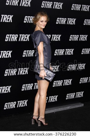 "Leighton Meester at the Los Angeles Premiere of ""Star Trek"" held at the Grauman's Chinese Theatre in Hollywood, California, United States on April 30, 2009."