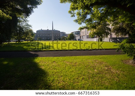Leinster house, the Government buildings in Dublin, Ireland