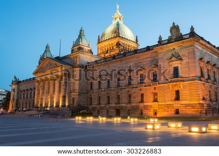 Leipzig, Germany - August 16, 2013: Federal Administrative Court of Leipzig
