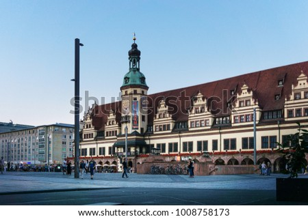 LEIPZIG, GERMANY - July 21, 2017: Leipzig Marktplatz, Germany
