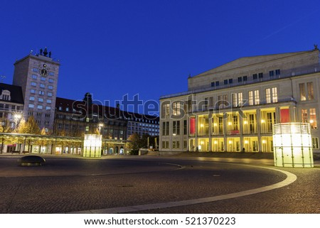 Leipzig Opera and Augustus Square. Leipzig, Saxony, Germany