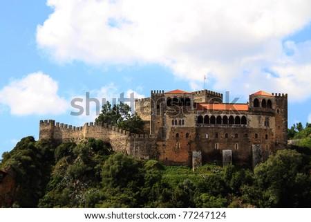 Leiria Castle, Portugal - stock photo