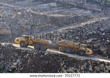 LEIRIA - FEBRUARY 3 : Machines work  on public work and construction of the expressway IC9  - Leiria in February 3, 2011 in Leiria in Portugal