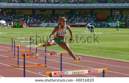 LEIRIA, PORTUGAL - MAY 20: SPAR European Team Championship, Patricia Lopes in 400 meters hurdles , May 20, 2009 in Leiria, Portugal