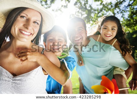 Leisure Holiday Vacation Family Parent Together Concept - stock photo