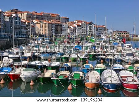Lekeitio port in the Basque Country - stock photo