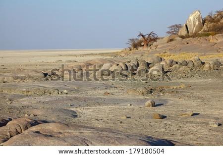 Lekhubu Island - stock photo
