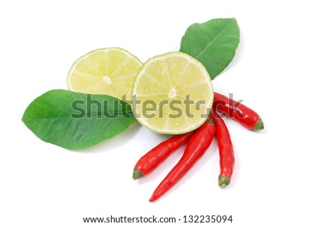 Lemon and chilli - stock photo