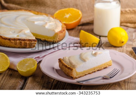 Lemon cheesecake, very simple delicious cake, rustic corners of dough