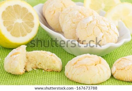 lemon cookies  - stock photo