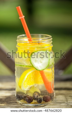 Lemon cucumber based detox water