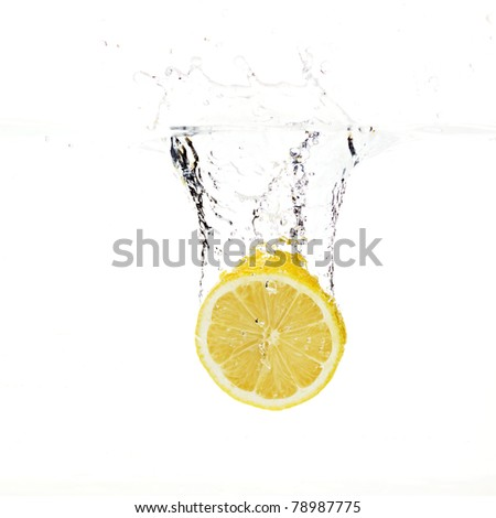 Lemon fell into the water