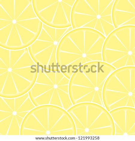 Lemon fruit abstract background. Raster version.