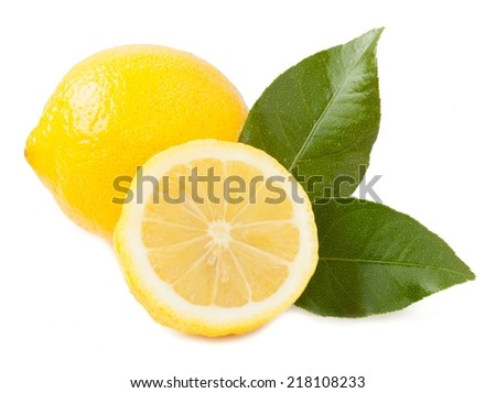 Lemon fruit isolated on a background white