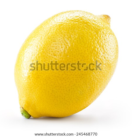 Lemon. Fruit isolated on white background. With clipping path