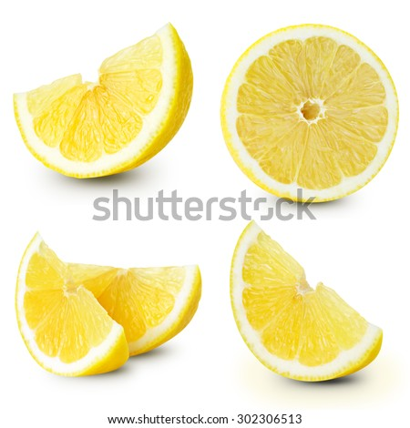 Lemon fruits collection Clipping Path