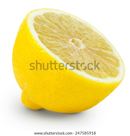 lemon half isolated