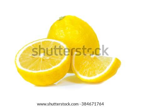 lemon isolated - stock photo