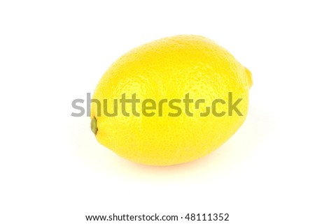 lemon isolated on a white