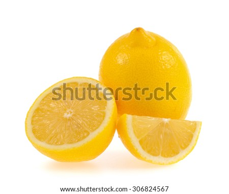 Lemon isolated on white background