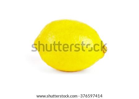 Lemon isolated on white background. Ripe lemon - stock photo