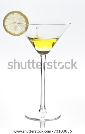 Lemon juice, isolated on a white background.