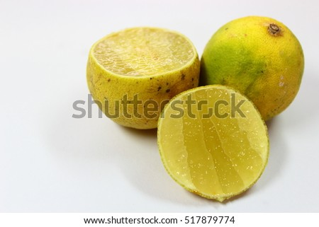 lemon layered and trimmed into two parts