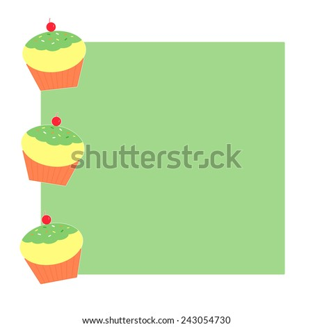 Lemon Lime Cupcakes - stock photo