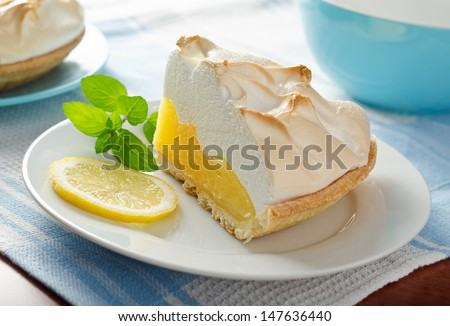 Lemon Meringue Pie - stock photo