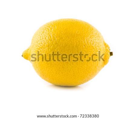 lemon on a white background - stock photo
