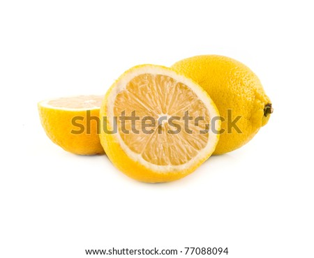 lemon on a white background - stock photo