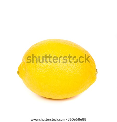 lemon or citron citrus fruit - isolated on white background cutout - stock photo