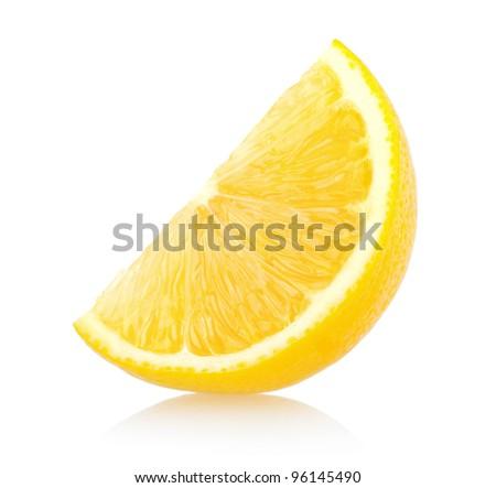 lemon slice - stock photo