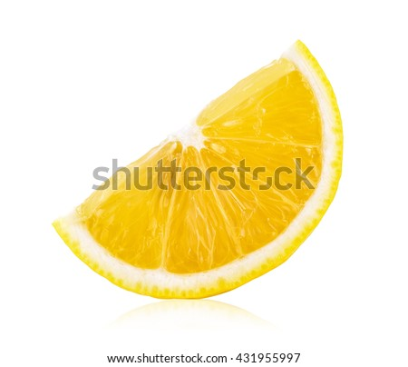 lemon slice isolated on white background