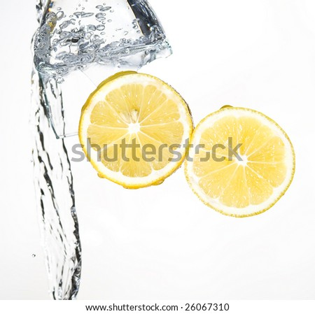 Lemon with spray water