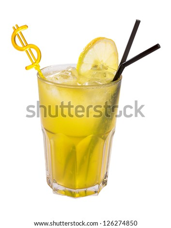 lemonade isolated - stock photo