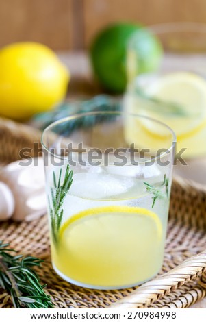 Lemonade with Rosemary by fresh ingredients