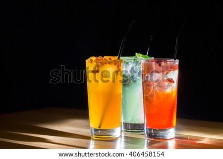 Lemonades. Refreshing summer drinks. - stock photo