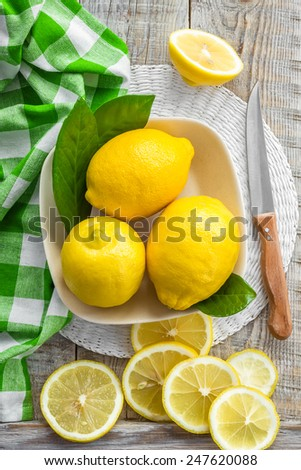 Lemons - stock photo