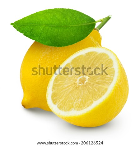 Lemons isolated  - stock photo