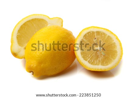 lemons isolated on white background  - stock photo