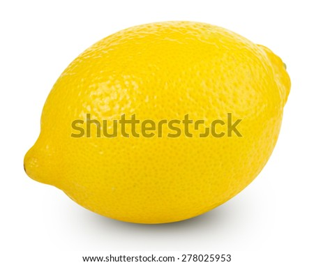 Lemons isolated on white background Clipping Path